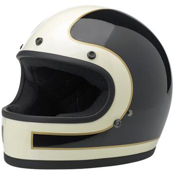 Biltwell Gringo Helmet - Limited Edition Tracker - Vintage White & Black