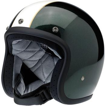 Biltwell Bonanza Helmet - Limited Edition Racer - Green/Cream