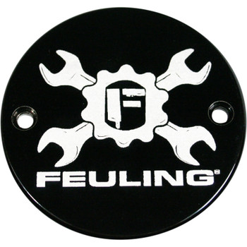 Feuling Gear Cross Logo Points Cover for 1984-1999 Harley Big Twin & 1986-2017 Sportster