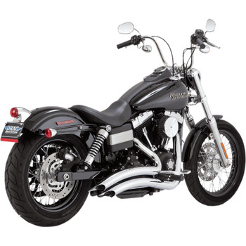 Vance & Hines Big Radius Exhaust for 2006-2017 Harley Dyna - Chrome