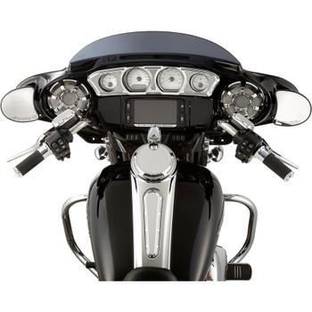 Arlen Ness Beveled Inner Fairing Gauge Trim for 2014-2017 Harley Touring - Chrome