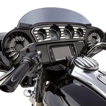 Arlen Ness Deep Cut Inner Fairing Gauge Trim for 2014-2017 Harley Touring - Black