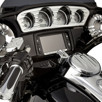 Arlen Ness Deep Cut Inner Fairing Gauge Trim for 2014-2017 Harley Touring - Chrome