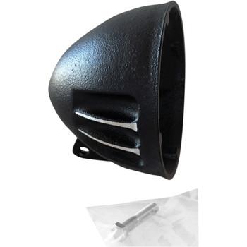 "EMD 5-3/4"" Vitamin A Headlight Bucket for Harley - Black Cut"