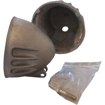 "EMD 5-3/4"" Vitamin A Headlight Bucket for Harley - Raw"