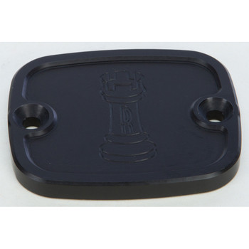 Rooke Customs Front Master Cylinder Cover for 1996-2008 Harley Big Twin - Black