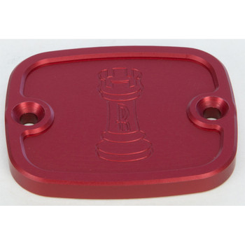 Rooke Customs Front Master Cylinder Cover for 1996-2008 Harley Big Twin - Red