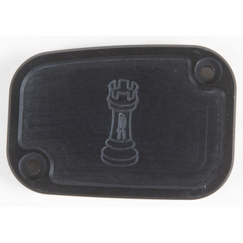 Rooke Customs Front Master Cylinder Cover for 2008-2013 Harley Touring  - Black