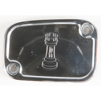 Rooke Customs Front Master Cylinder Cover for 2008-2013 Harley Touring  - Polished