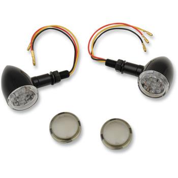 Drag Specialties LED Mini Deuce Marker Lights - Gloss Black