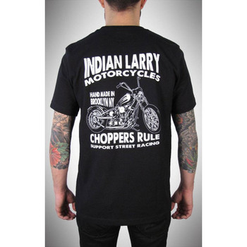Indian Larry Support Street Racing T-Shirt - Black