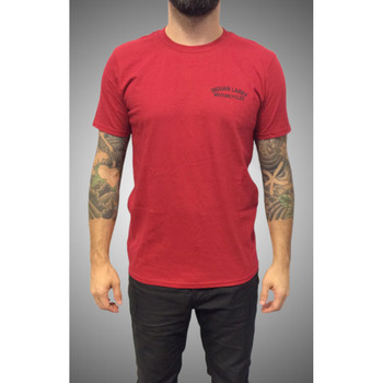 Indian Larry 'The Shop Tee' T-Shirt - Red