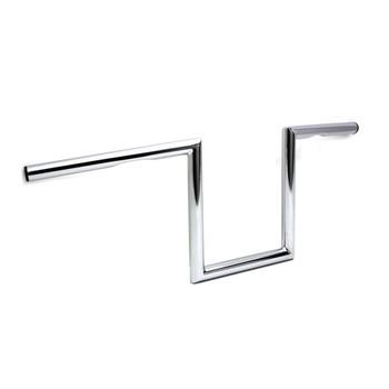 "V-Twin 1"" Chrome 10"" Z-Bars Handlebars - Dimpled"