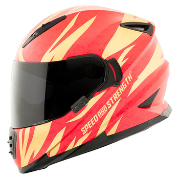 Speed and Strength SS1600 Cat Out'a Hell Helmet - Gold/Red