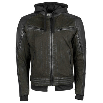 Speed and Strength Straight Savage Leather/Waxed Canvas Jacket - Olive