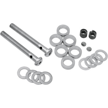 """D&M 3-1/4"""" Cut-To-Length Chrome Button-Head Breather Bolt Kits - 3/8""""-16 w/ 1/2"""" Inserts"""