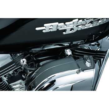 Kuryakyn Breather Bolt Covers for Harley with Kuryakyn Air Cleaners