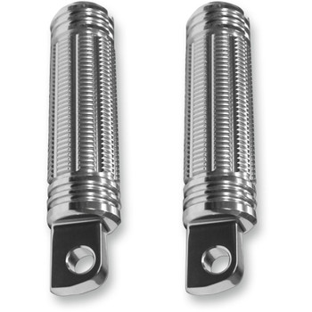 Burly Stash Foot Pegs for Harley - Silver