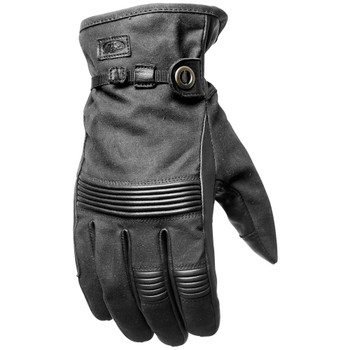 Roland Sands Truman Waxed Gloves - Black