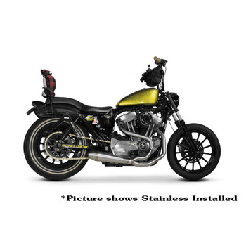 Two Brothers Racing 2-Into-1 Gen II Comp-S Exhaust for 2014-2017 Harley Sportster - Black