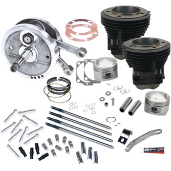 "S&S 96"" Sidewinder Big Bore Stroker Kit for 1970-1984 Harley Shovelhead"