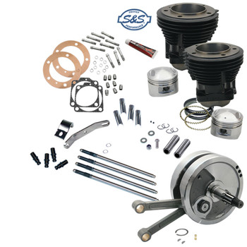"S&S 93"" Sidewinder High Compression Big Bore Stroker Kit for 1970-1984 Harley Shovelhead"