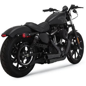 Vance & Hines Mini Grenades 2-Into-2 Exhaust for 2004-2017 Harley Sportster - Black