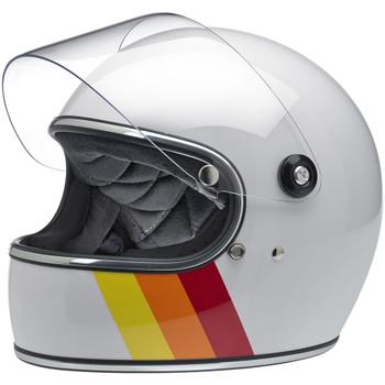 Biltwell Gringo S Helmet - White Tri-Stripe