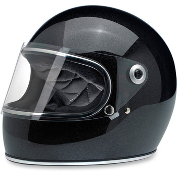 Biltwell Gringo S Helmet - Midnight Black Mini Flake