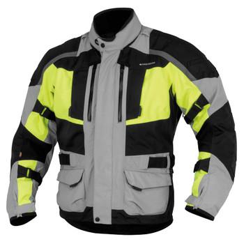 FirstGear Kathmandu Jacket - Grey/DayGlo
