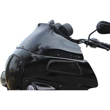 "Klock Werks 9"" Flare Windshield for Harley FXRP Style Fairings - Black"