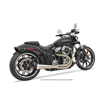 Bassani Road Rage 3 Stainless Exhaust for 2018 Harley Softail Breakout and Fat Boy