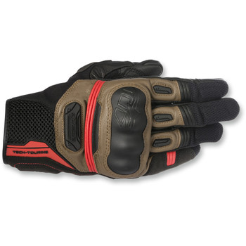 Alpinestars Highlands Gloves - Black/Tobacco Brown/Red