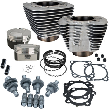 S&S Hooligan Kit 1200 to 1250 Big Bore for 2000-2018 Harley Sportster - Silver