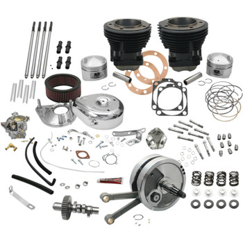 "S&S 93"" Hot Set Up Big Bore Stroker Kit for 1973-1977 Harley Shovelhead"