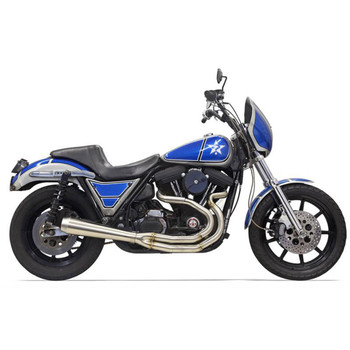 Bassani High Horsepower Road Rage 2-Into-1 Stainless Exhaust for Harley FXR