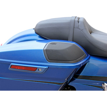 J & M Saddlebag Lid Kit with Rokker XXR Speakers for 2014-2018 Harley Touring