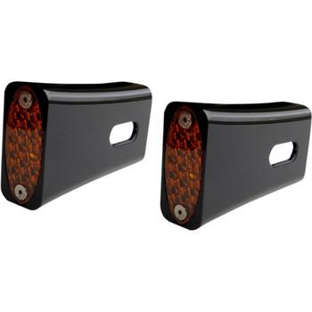 Pro-One Amber LED Fender Strut LED Marker Lights for Harley - Black