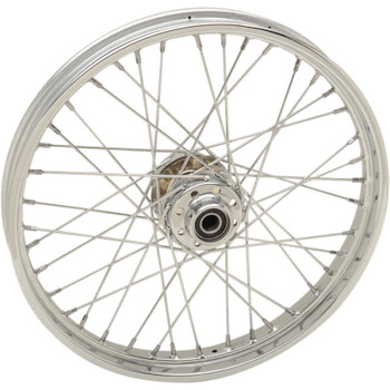 "Drag Specialties 21"" x 2.15"" Laced 40-Spoke Front Wheel for 2007-2017 Harley Softail Non-ABS"