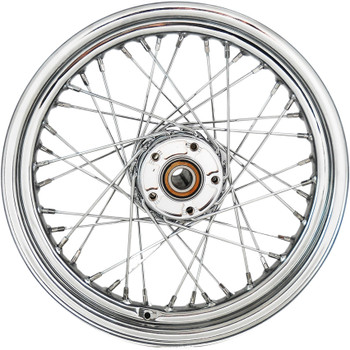 "Drag Specialties 16"" x 3"" Laced 40-Spoke Rear Wheel for 2009-2018 Harley Touring Non-ABS"