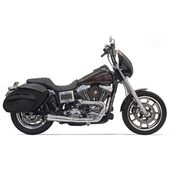 Bassani Road Rage 2-Into-1 Collector Exhaust for 1991-2017 Harley Dyna - Chrome