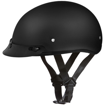 Daytona DOT Skull Helmet w/ Visor - Matte Black