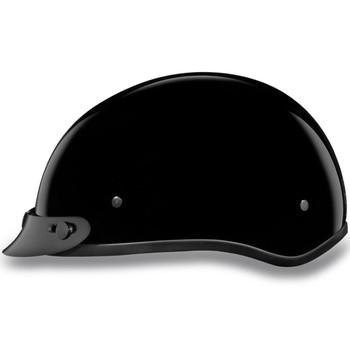Daytona DOT Skull Helmet w/ Visor - Gloss Black