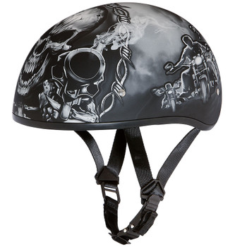 Daytona DOT Skull Helmet - Guns