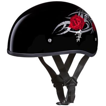 Daytona DOT Skull Helmet - Roses