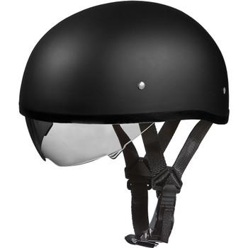 Daytona DOT Skull Helmet w/ Inner Shield - Matte Black