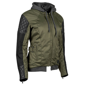 Speed and Strength Double Take Women's Textile Jacket - Olive/Black