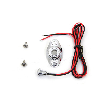 V-Twin Old School Single Push-Button Switch Kit - Chrome