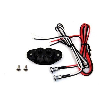 V-Twin Old School Dual Push-Button Switch Kit - Black