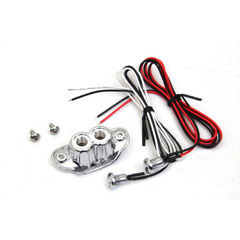 V-Twin Old School Dual Push-Button Switch Kit - Chrome